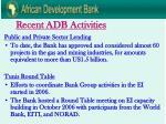 recent adb activities