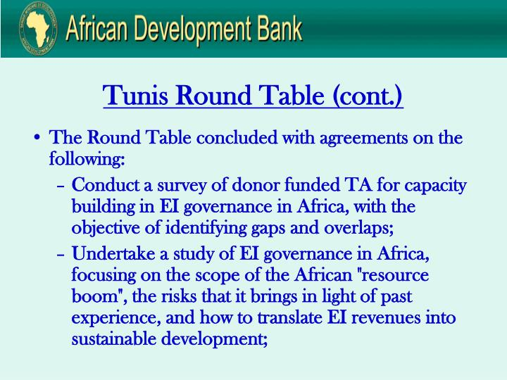 Tunis Round Table (cont.)