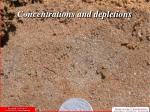 concentrations and depletions