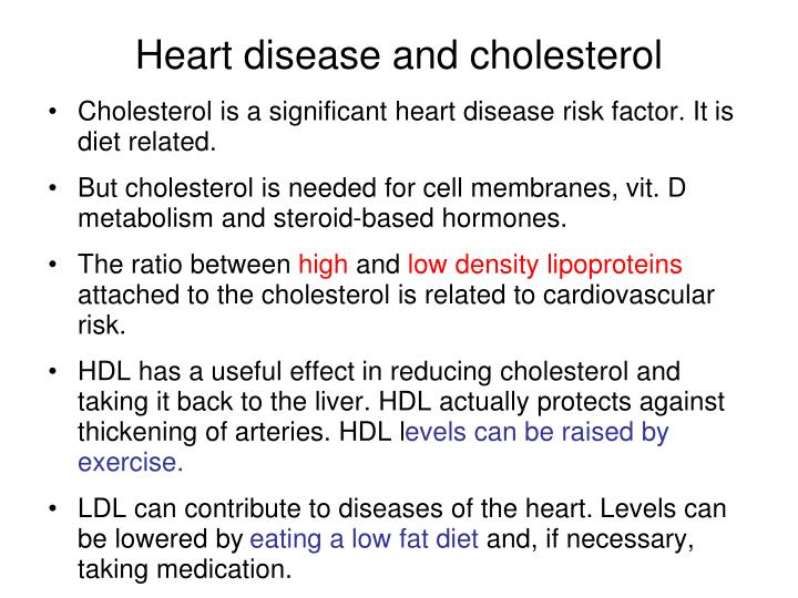 Heart disease and cholesterol