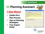 5 planning assistant