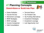 7 planning concepts stand alone or build into plan