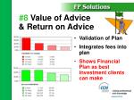 8 value of advice