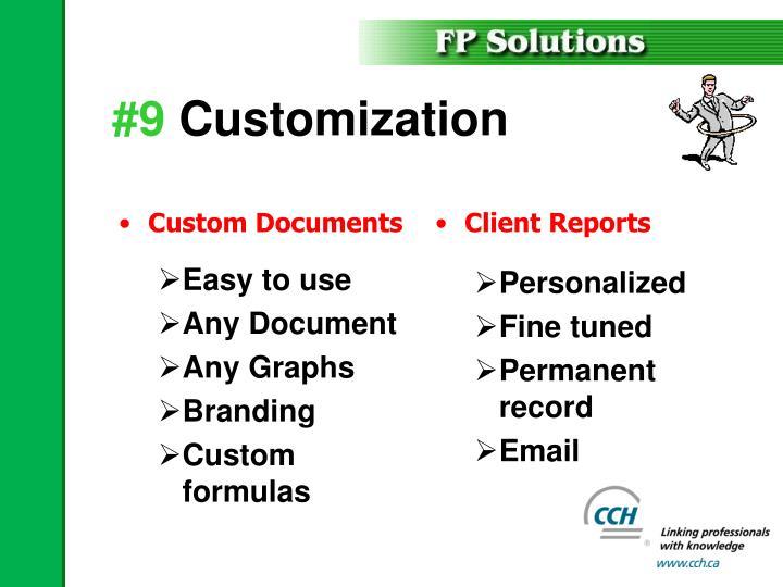 Custom Documents