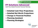 fp solutions advanced cash flow based personal financial planning
