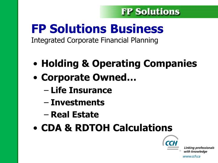 FP Solutions Business