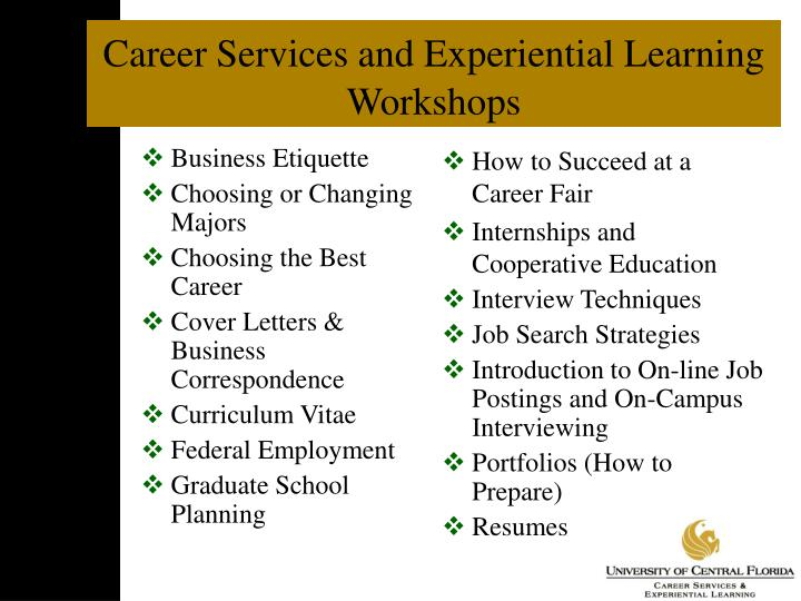 Career Services and Experiential Learning