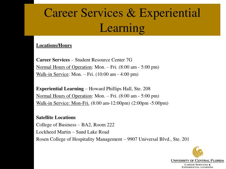 Career Services & Experiential Learning