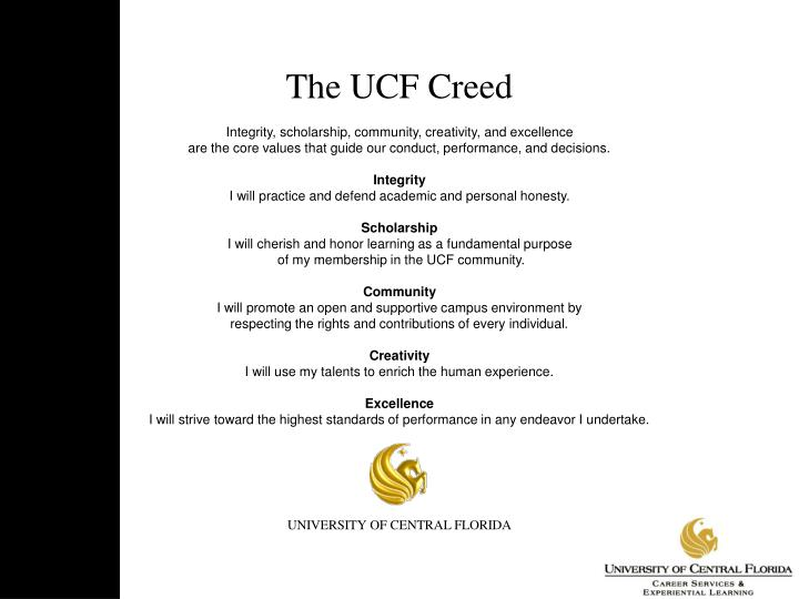 The UCF Creed