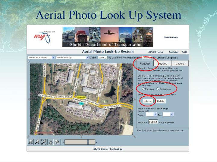 Aerial Photo Look Up System