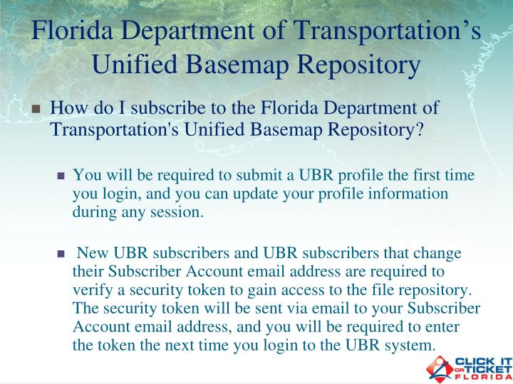 Florida Department of Transportation's Unified Basemap Repository
