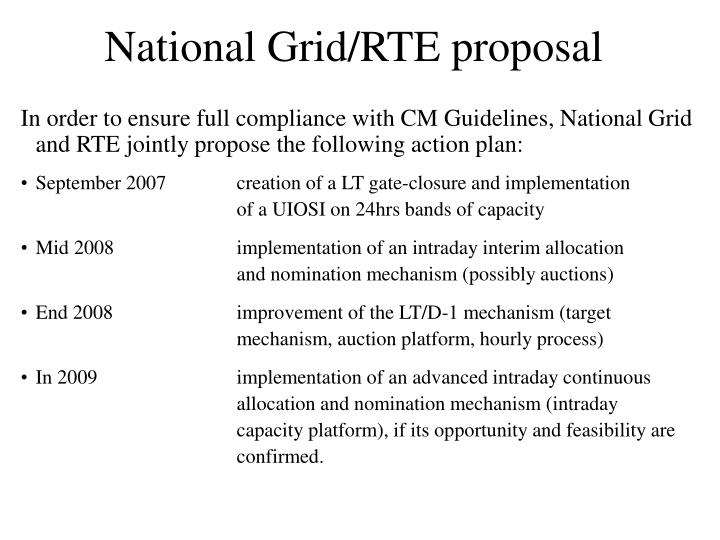 National Grid/RTE proposal