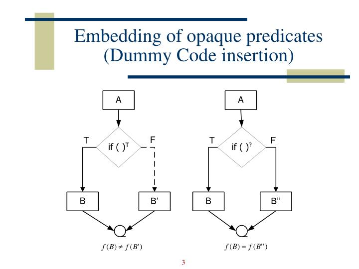 Embedding of opaque predicates
