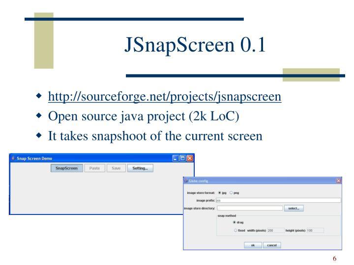 JSnapScreen 0.1