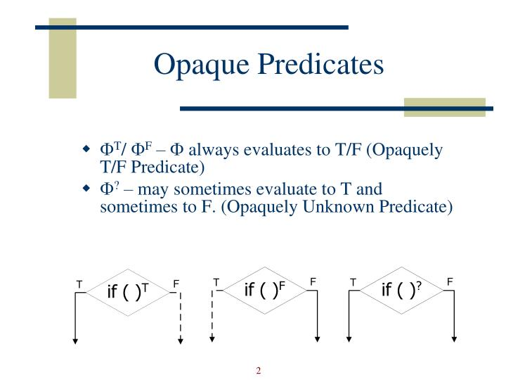 Opaque Predicates
