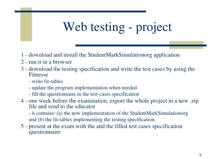Web testing - project