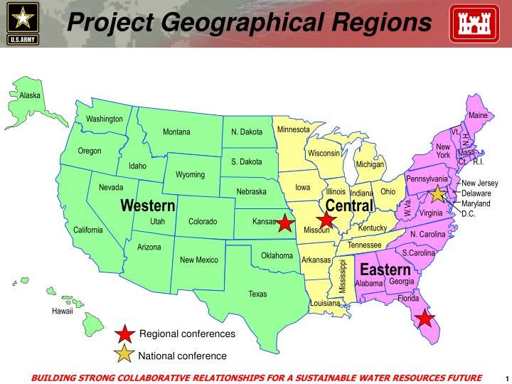 Project geographical regions