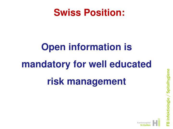 Swiss Position: