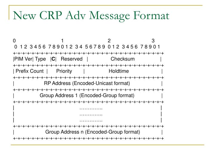 New CRP Adv Message Format