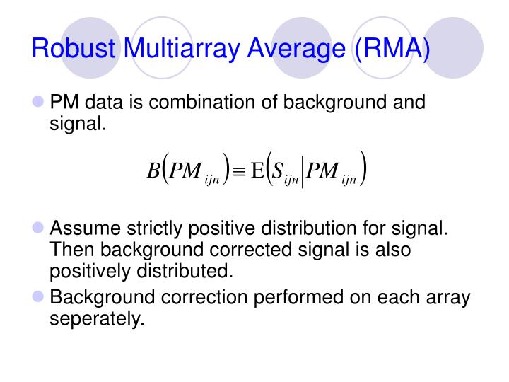 Robust Multiarray Average (RMA)