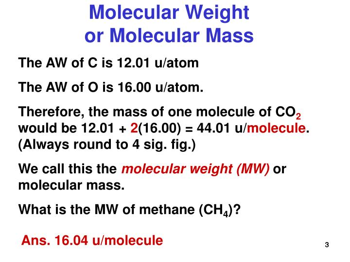U Molecular Weight PPT - Atomic Weight, M...