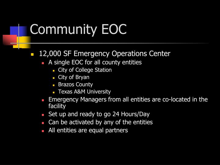 Community EOC