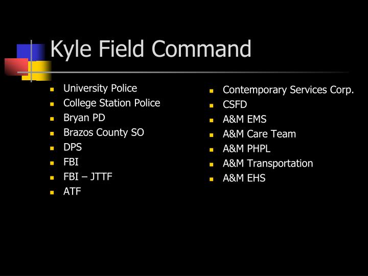 Kyle Field Command