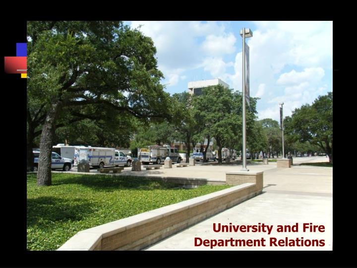 University and fire department relations