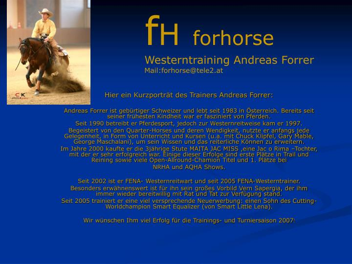 Hier ein kurzportr t des trainers andreas forrer