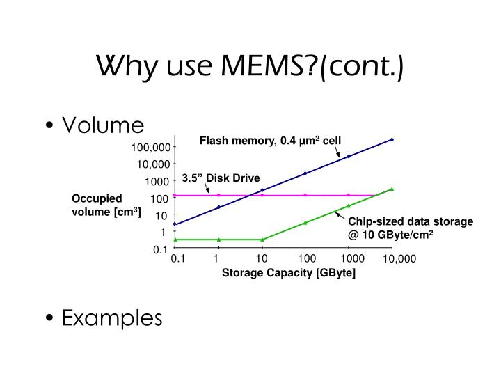 Why use MEMS?(cont.)