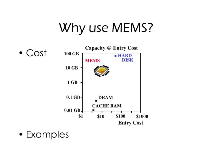 Why use MEMS?