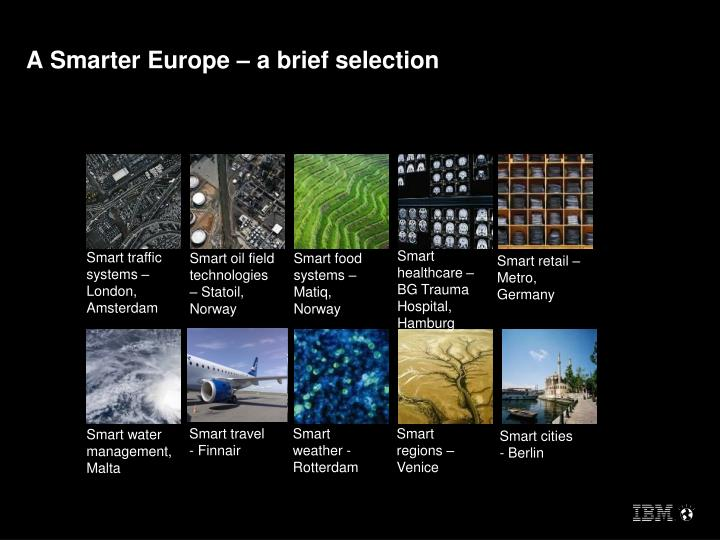 A Smarter Europe – a brief selection