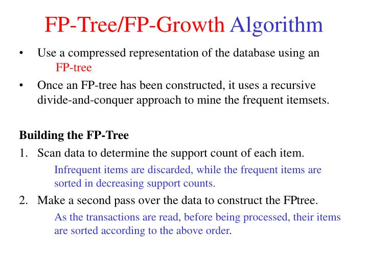 Fp tree fp growth algorithm