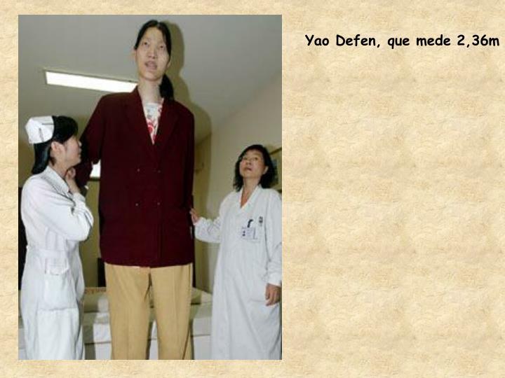 Yao Defen, que mede 2,36m