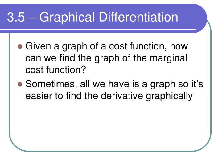 3.5 – Graphical Differentiation