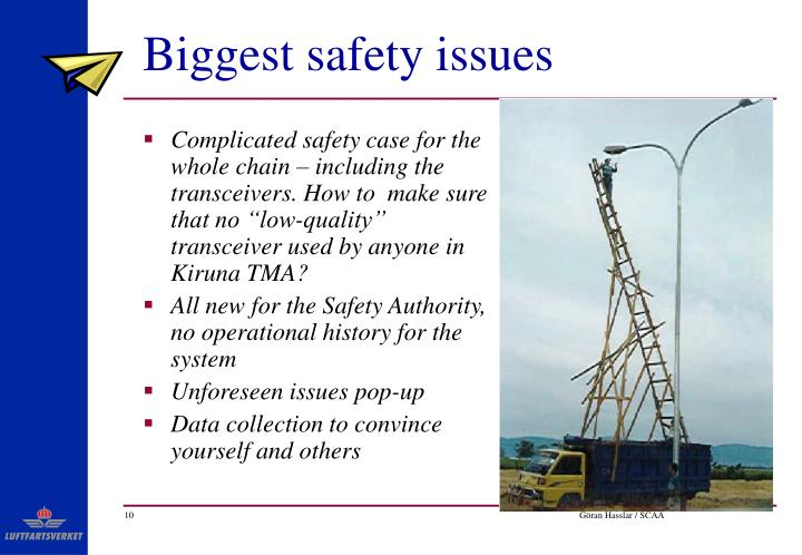Biggest safety issues
