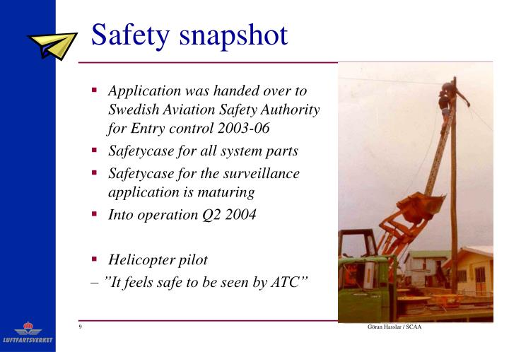 Safety snapshot