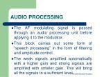 audio processing