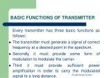 basic functions of transmitter1