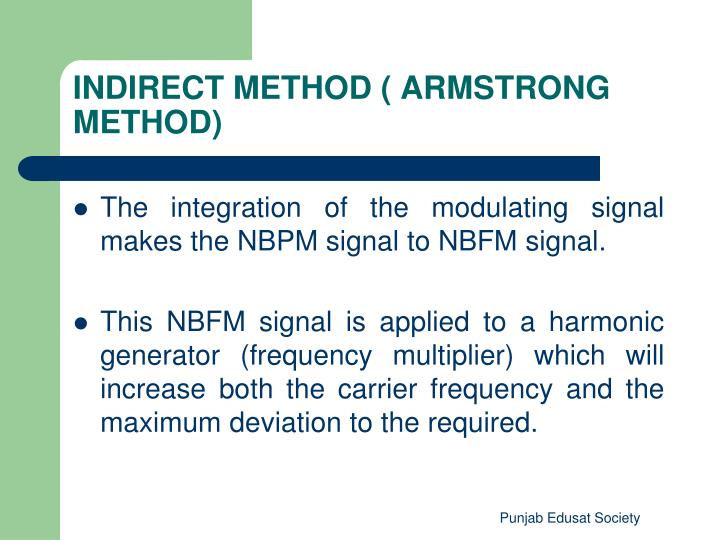 INDIRECT METHOD ( ARMSTRONG METHOD)