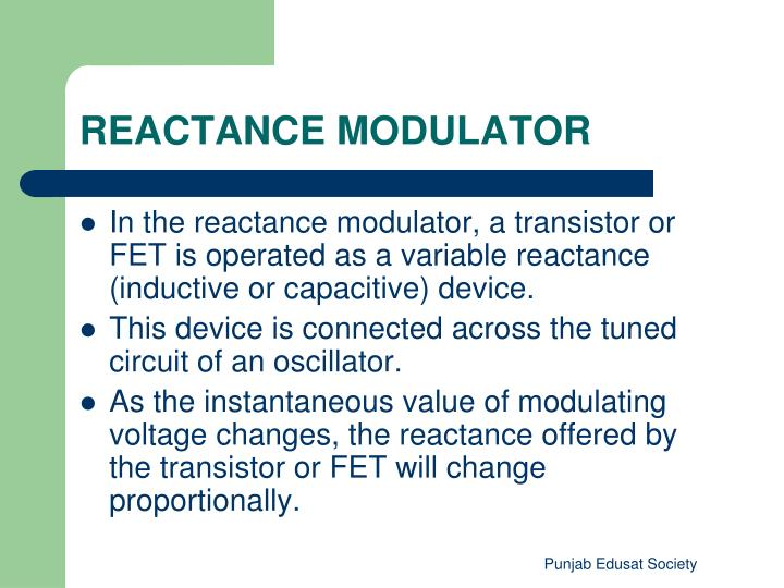 REACTANCE MODULATOR