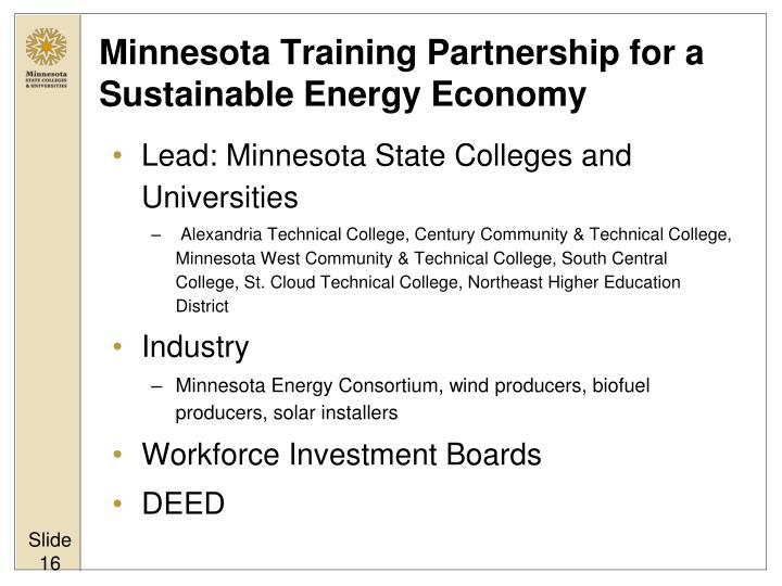 Minnesota Training Partnership for a Sustainable Energy Economy