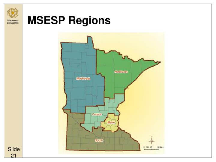 MSESP Regions
