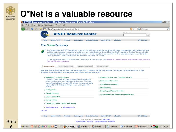 O*Net is a valuable resource
