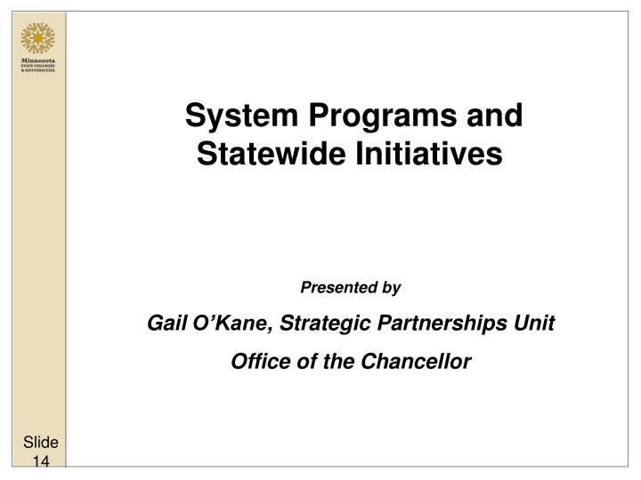 System Programs and