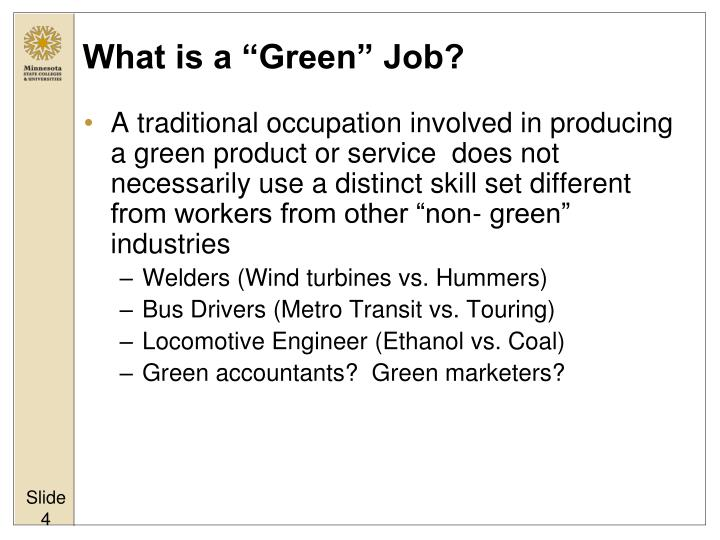 "What is a ""Green"" Job?"