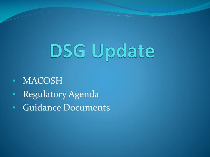 DSG Update