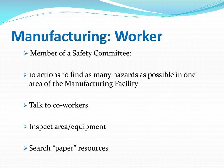 Manufacturing: Worker