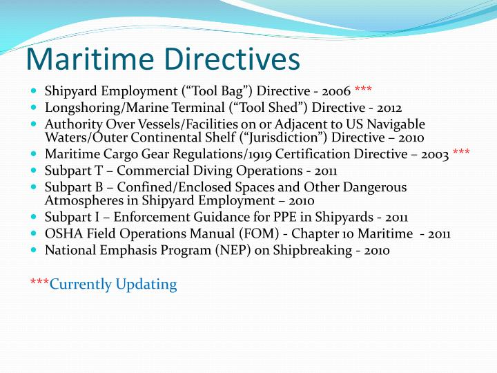 Maritime Directives