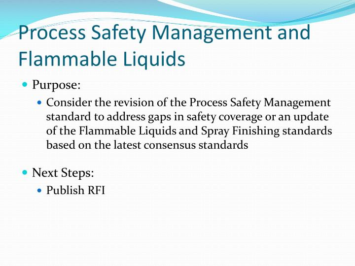 Process Safety Management and Flammable Liquids